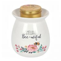 Smelling Bee-utiful Wax/Oil Melt Burner with 'Honey and Heather Melts Gift Set...